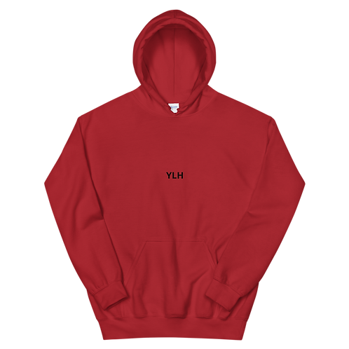 YLH - Unisex Hoodie (red)(black font)