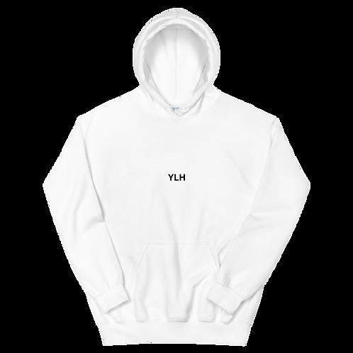 YLH - Unisex Hoodie (White)(black font)