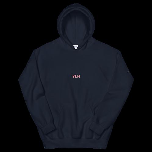 YLH - Unisex Hoodie (navy blue)(pink font)