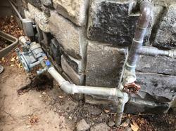 Original shut-off valves on the water line