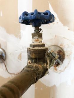 Frozen shut-off valve to water heater