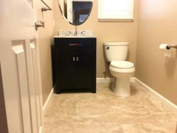 New vanity install replacing pedestal sink
