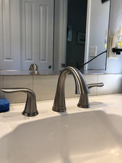 New vanity faucet once the old frozen one came off