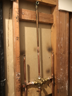 Rough shower plumbing for remodel