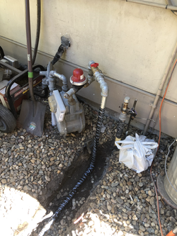 Ran new gas line for outdoor BBQ & Fire Pit