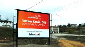 Teleses Keskin GES Güneş Enerjisi Santralı İnşaatı Başladı..