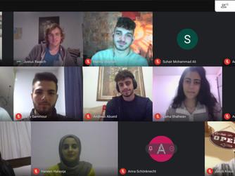 Gespräch mit Studierenden der Bethlehem Universität und unseren Freiwilligen