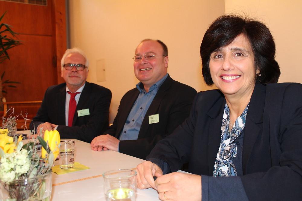 v.l.n.r.: Heinz Thiel, Michael Müller, Dr. Hiyam Marzouqa