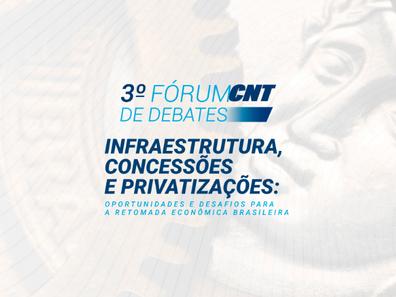 Inscrições abertas para o 3º Fórum CNT de DebatesInscrições abertas para o 3º Fórum CNT de Debates