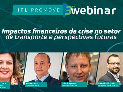 Webinar debaterá impactos financeiros da crise da covid-19 no transporte e perspectivas futuras