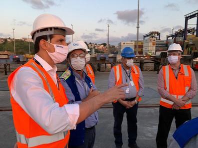 Em Salvador, Secretário-Executivo do MInfra realiza visita técnica ao complexo portuário da Codeba