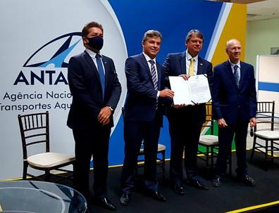 ANTAQ realiza cerimônia de posse do novo diretor-geral Eduardo Nery