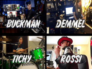 "PHIL BUCKMAN, PHIL DEMMEL, BRIAN TICHY and LUKAS ROSSI team up for an ""At Home/Collab-A-Jam"""