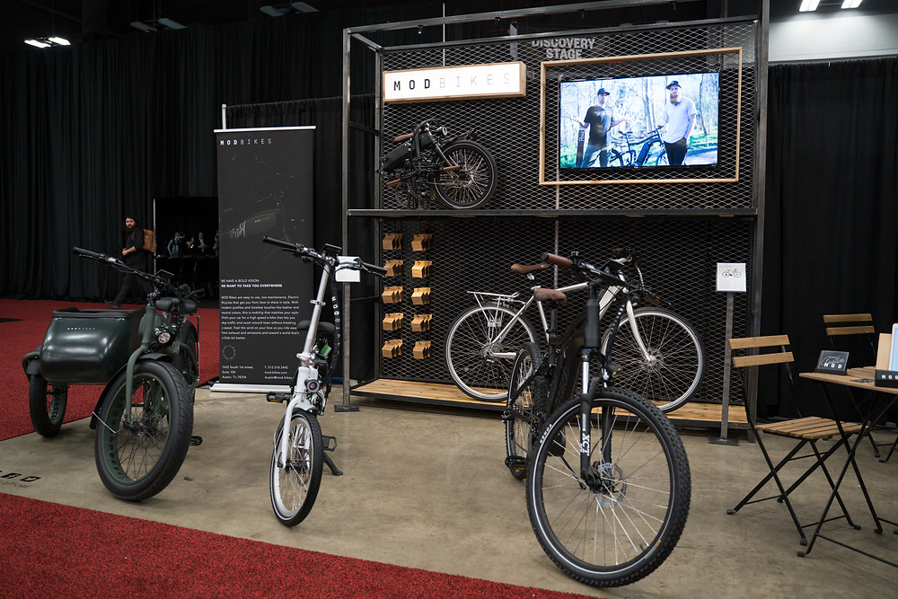 The MOD BIKES Booth at SXSW's 2019 Trade Show