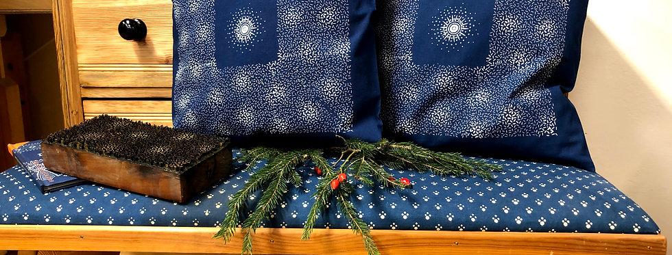 2 Blaudruck- Kissenbezüge