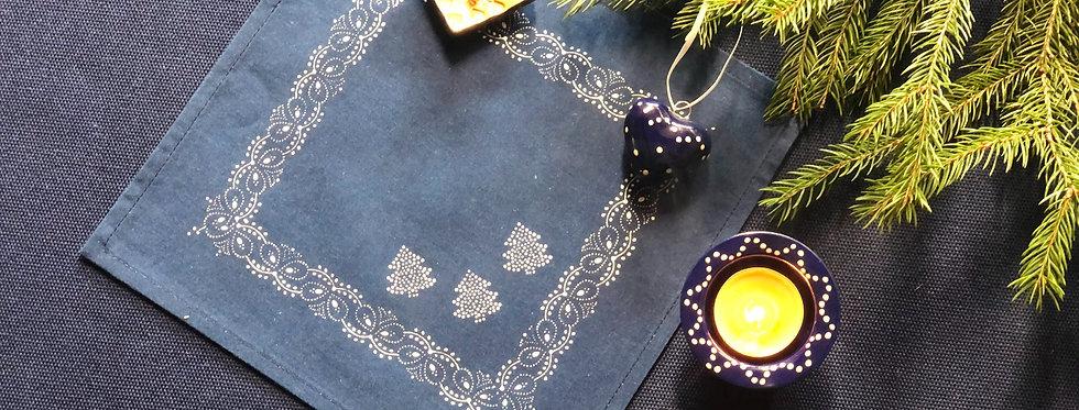 Weihnachtszauber in Blau