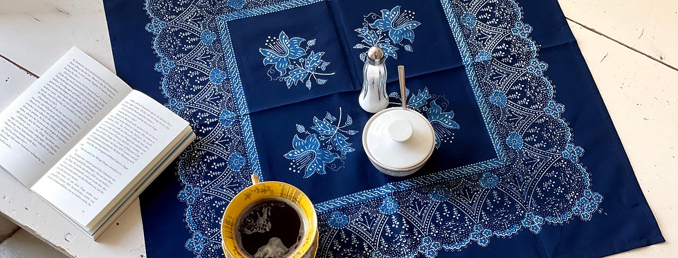 Doppelblau-Tuch