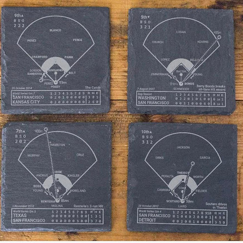 Greatest Plays Slate Coasters (sets of 4)
