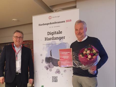 Sparebankstiftinga Hardanger sin Nyskaparpris for 2019 tildelt Siderklynga Hardanger