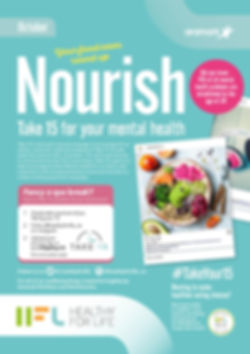 Nourish Newsletter - Take 15 - October -