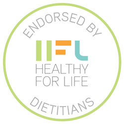 X-HFL -- Endorsed By Dietitians stamp