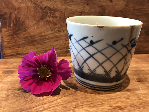 No.04 Old Imari Blue and White Soba Cup