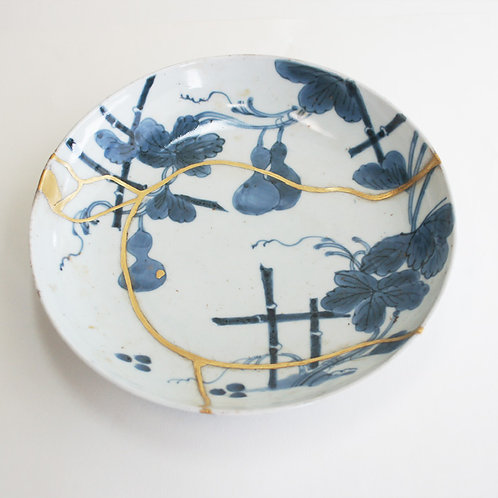 No.006 Old Imari Blue and White Plate