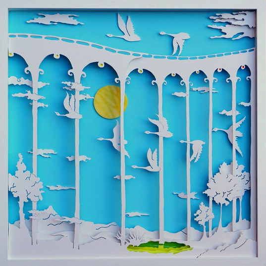 Swans's flight -Radu Stefan Poleac Art-