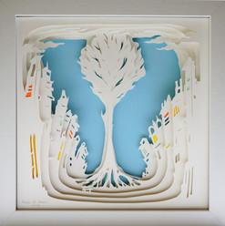 Paper Cut 3D -Radu. St. Poleac- Blue The