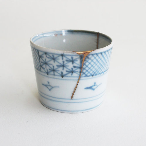 No.02 Old Imari Blue and White Soba Cup