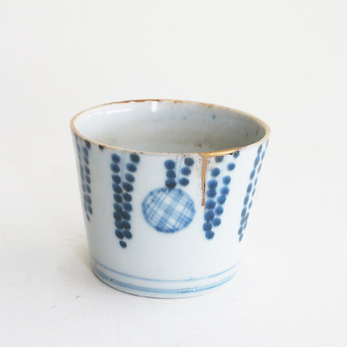 No.07 Old Imari Blue and White Soba Cup