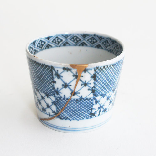No.09 Old Imari Blue and White Soba Cup