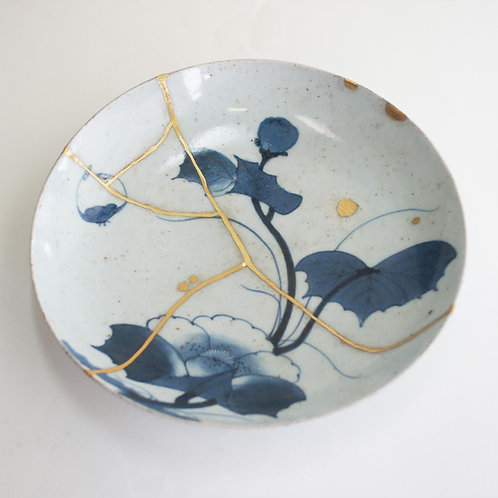 No.004 Old Imari Blue and White Plate