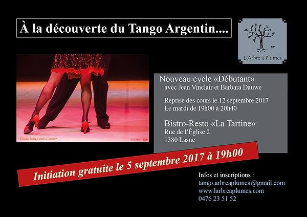 Tango argentin Lasne La Tartine Jean Vinclair L'Arbre à Plumes Barbara Dauwe