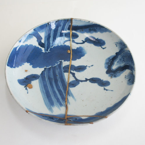 No.007 Old Imari Blue and White Plate