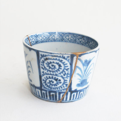 No.05 Old Imari Blue and White Soba Cup