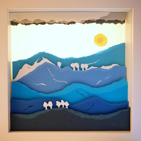 Paper Cut 3D -Radu. St. Poleac- Blue lan