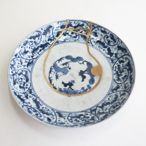 No.005 Old Imari Blue and White Plate