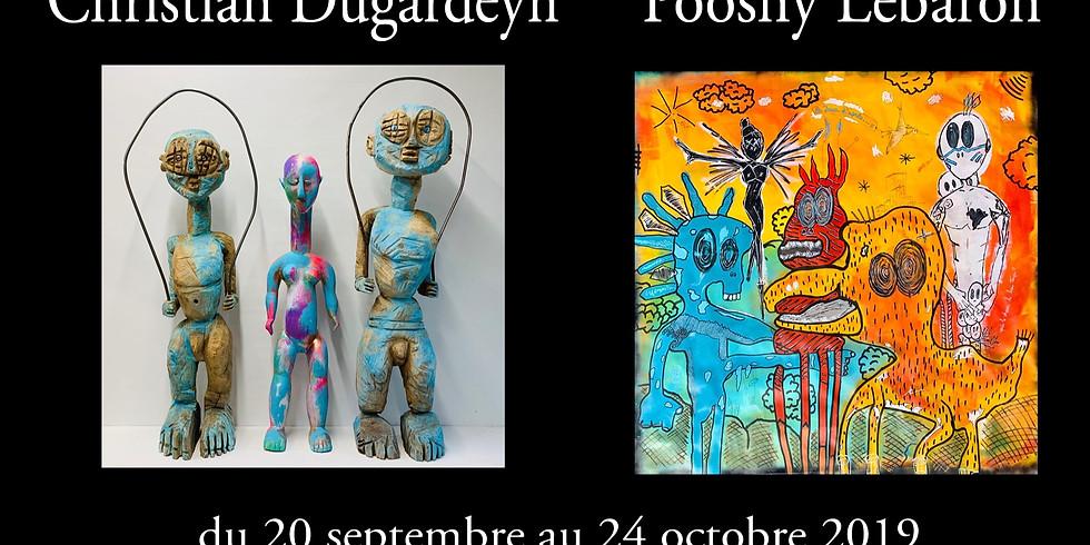 "Vernissage de l'exposition ""Origines""  Pooshy Lebaron et Christian Dugardeyn"