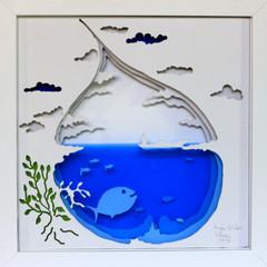 The fish- Radu Stefan Poleac, Cut Art 3D