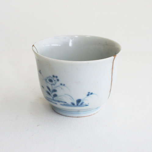 No.08 Old Imari Blue and White Soba Cup
