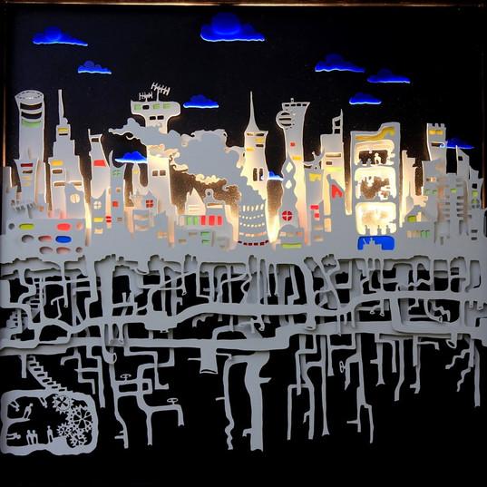 Les racines de la ville (vu du soir) -Ra