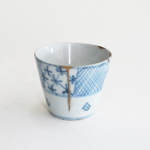 No.06 Old Imari Blue and White Soba Cup
