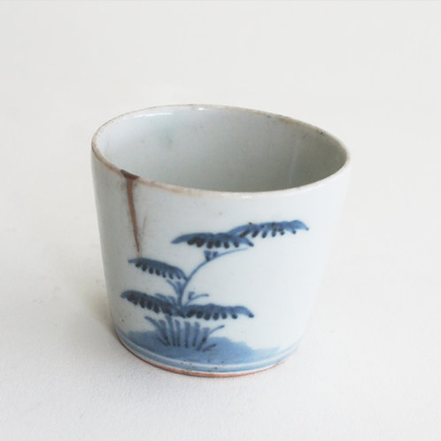 No.03 Old Imari Blue and White Soba Cup