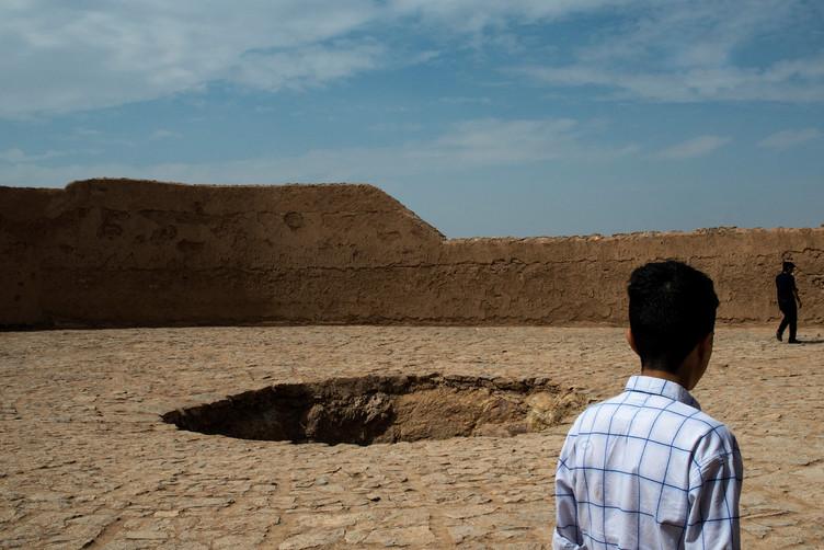 Sommet d'une tour du silence, Yazd