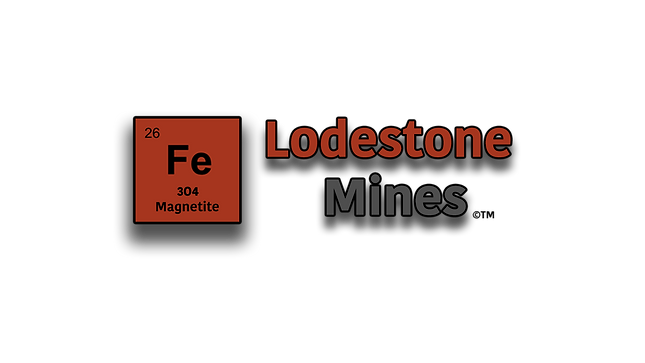 Lodstone Mines logo bigger Fe with title