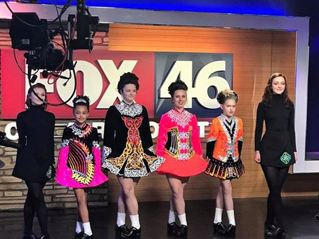 Bringing on the Green at the Fox 46 Studios
