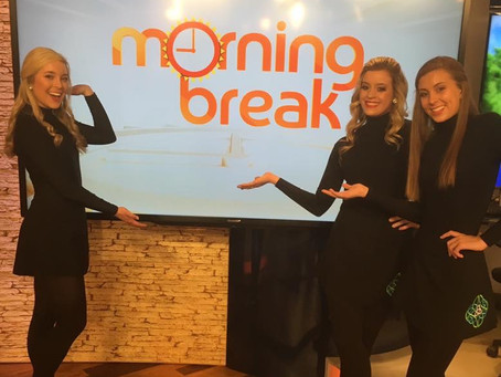 Connick School of Irish Dance Visits Morning Break