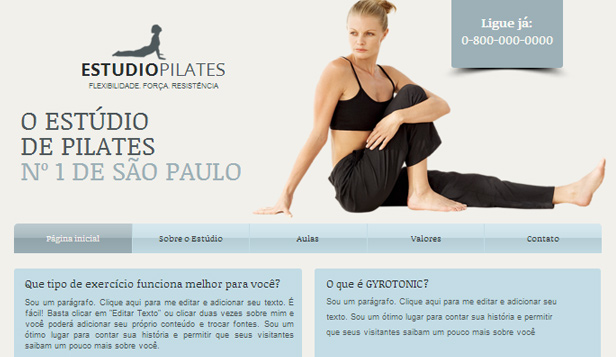 Esportes e Recreação website templates – Aulas de Pilates