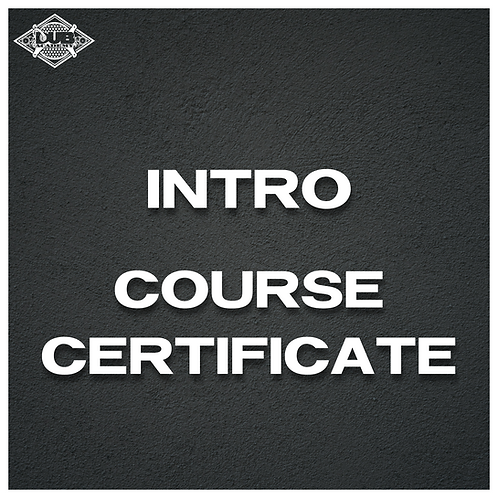 Intro Course Certificate